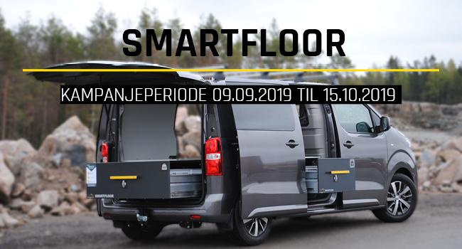 Smartfloor tilbudskampanje 5000 kr rabatt peugeot expert oktober